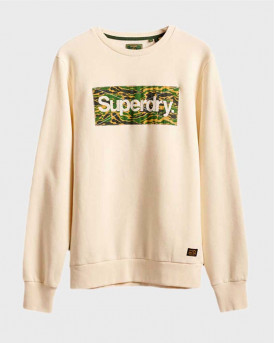 Superdry Φούτερ Core Logo Canvas Crew Sweatshirt - Μ2010419Α - AΣΠΡΟ