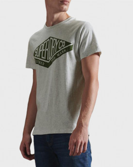 Superdry Copper Label T-Shirt - M1010374A - ΓΚΡΙ