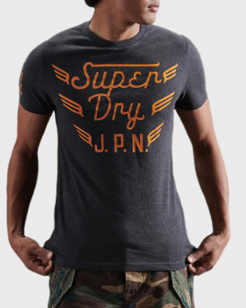 Superdry Copper Label T-Shirt - M1010374A - ΑΝΘΡΑΚΙ