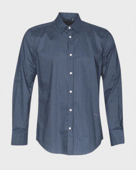 Antony Morato Πουκάμισο Micro Print Shirt - MMSL00610/FA430441 - ΜΠΛΕ