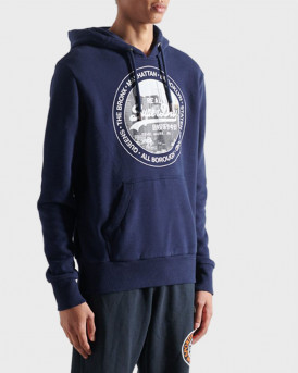 Superdry Φούτερ Superdry Photo Hoodie - M2010433B - ΜΠΛΕ