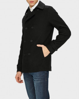 Only & Sons Παλτό Wool Coat - 22011049 - ΜΑΥΡΟ