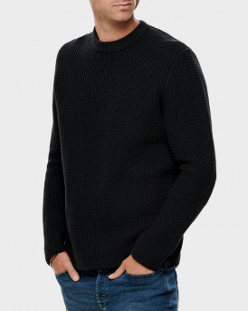 Only & Sons Πλεκτό Τexture Knitted Pullover - 22014431 - ΜΠΛΕ