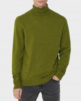 Only & Sons Ζιβάγκο Roll Neck Knitted Pullover - 22014110 - ΠΡΑΣΙΝΟ
