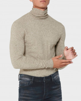 Only & Sons Ζιβάγκο Roll Neck Knitted Pullover - 22014110 - ΓΚΡΙ