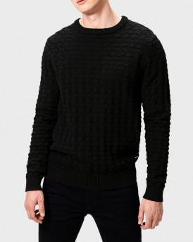 Produkt Πλεκτό Knitted Pullover - 12138044 - ΜΑΥΡΟ