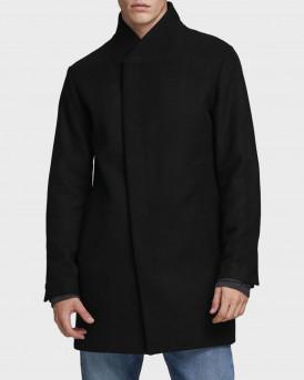 Jack & Jones Παλτό Wool Blend Coat - 12171389 - ΜΑΥΡΟ