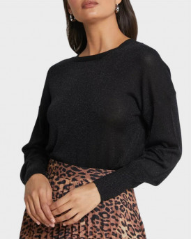 Only Πλεκτό Rib Knitted Pullover - 15206743 - ΜΑΥΡΟ