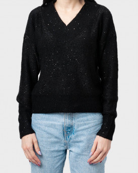 Only Πλεκτό Knitted Pullover - 15210966 - ΜΑΥΡΟ