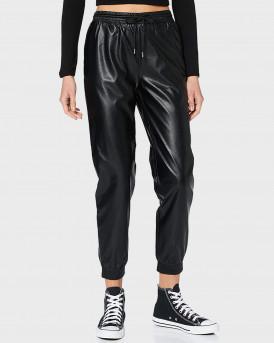 Οnly Παντελόνι Pu Faux Leather Trousers - 15206642 - ΜΑΥΡΟ