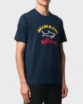 Paul & Shark Logo T-Shirt - A20P1667 - ΜΠΛΕ