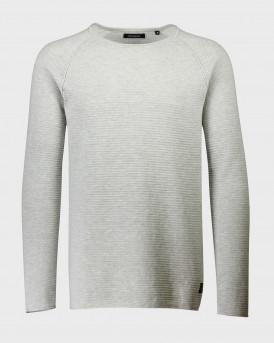 Shine Πλεκτό Knitted Crew Neck - 2-800023 - ΓΚΡΙ