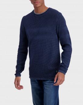 Shine Πλεκτό Knitted Crew Neck - 2-800023 - ΜΠΛΕ
