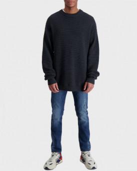 Shine Original Men's Pullover Black Melange - 2-800026 - ΜΑΥΡΟ