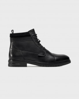 Pepe Jeans μποτάκια lace-up boots - ΡMS50200 ΤΗΟΜΑS - ΜΑΥΡΟ