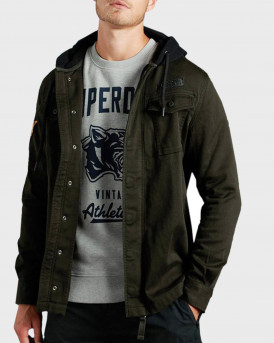 Superdry Μπουφάν Core Military Patched Overshirt - M4010061A - ΛΑΔΙ