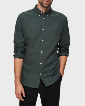 SELECTED ΠΟΥΚΑΜΙΣΟ BUTTON DOWN COLLAR SHIRT - 16076544 - ΛΑΔΙ
