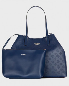 Guess Τσάντα Vicky Logo Print Shopper - SP699524 - ΜΠΛΕ
