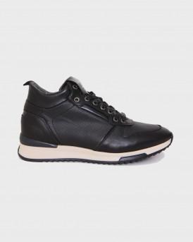 Βοss Shoes Ανδρικά Μποτάκια - M25290 - ΜΑΥΡΟ