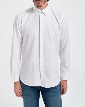 D'Zine Πουκάμισο Shirt - D-2141 - ΑΣΠΡΟ