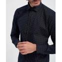 D'Zine Πουκάμισο Shirt - D-19374 - ΜΠΛΕ