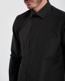 D'Zine Πουκάμισο Shirt - D-2177 - ΜΑΥΡΟ