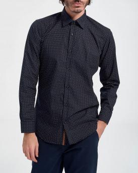 D'Zine Πουκάμισο Shirt - D-2152 - ΜΠΛΕ