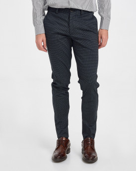 Produkt Checked Trousers - 12180245 - ΜΠΛΕ