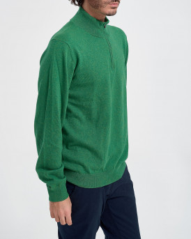 Approach Πλεκτό Knit Zip Neck Jumper - ΑPW90030 - ΠΡΑΣΙΝΟ