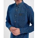 Superdry Πουκάμισο Work Wear Indigo Shirt - M4010080A - ΜΠΛΕ