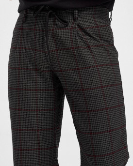 Boss Παντελόνι Checked Trousers - 50436146 SYMON - ΓΚΡΙ