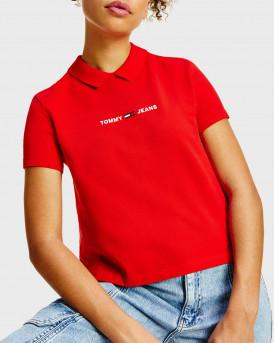 Tommy Hilfiger Classic Logo Polo - DW0DW09909 - ΚΟΚΚΙΝΟ