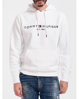 TOMMY HILFIGER LOGO HOODY - MW0MW11599 - ΑΣΠΡΟ