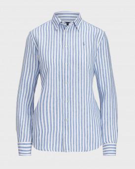 POLO RALPH LAUREN Relaxed Fit Striped Linen Shirt - 211780668011 - ΣΙΕΛ