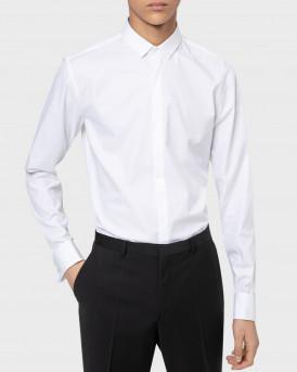 HUGO Extra-slim-fit evening shirt in structured cotton - 50450013 EJINAR - ΑΣΠΡΟ