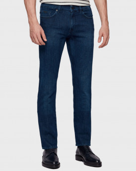 Slim-fit jeans in super-soft navy stretch denim - 50449630 DELAWARE3-1 - ΜΠΛΕ