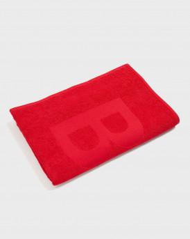 BOSS Cotton-jacquard beach towel with tone-on-tone logo 80Χ160cm - 50446614 SOLID - ΚΟΚΚΙΝΟ