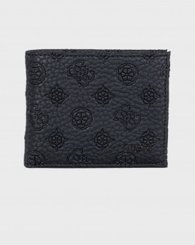 Guess Faux Leather Wallet - SMELEMLEA24 - ΜΑΥΡΟ