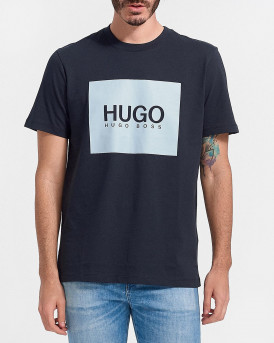 HUGO Regular-fit T-shirt in cotton jersey with logo print - 50448795 DOLIVE - ΜΠΛΕ