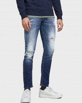 JACK & JONES GLENN FOX GE 740 SLIM FIT JEANS - 12185918 - ΜΠΛΕ