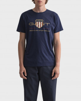 GANT Archive Shield T-Shirt - 2003099 - ΜΠΛΕ