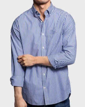 GANT SHIRT THE BROADCLOTH STRIPE - 3062000 - ΜΠΛΕ