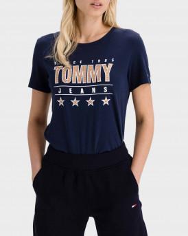 TOMMY HILFIGER T-SHIRT - DW0DW10197 - ΜΠΛΕ