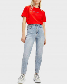 TOMMY HILFIGER MOM ULTRA HIGH RISE TAPERED JEANS - DW0DW09888 - ΜΠΛΕ