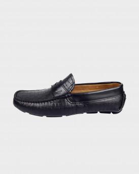 BOSS SHOES Men Formal Shoes - Q5784 WΟVΕΝ - ΜΑΥΡΟ