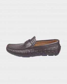 BOSS SHOES Men Formal Shoes - Q5784 WΟVΕΝ - ΚΑΦΕ
