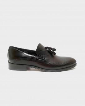 BOSS SHOES  Men Formal Shoes - Q5429 RMN - ΜΑΥΡΟ