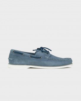 Us Polo Assn Ανδρικό Boat Shoes - NAUTY063 SUEDE - ΣΙΕΛ