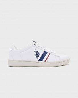 US POLO ASSN Ανδρικό Sneakers - ALCOR - ΑΣΠΡΟ