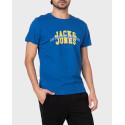 JACK & JONES T-SHIRT SUMMER CREW NECK - 12182145 - ΜΠΛΕ